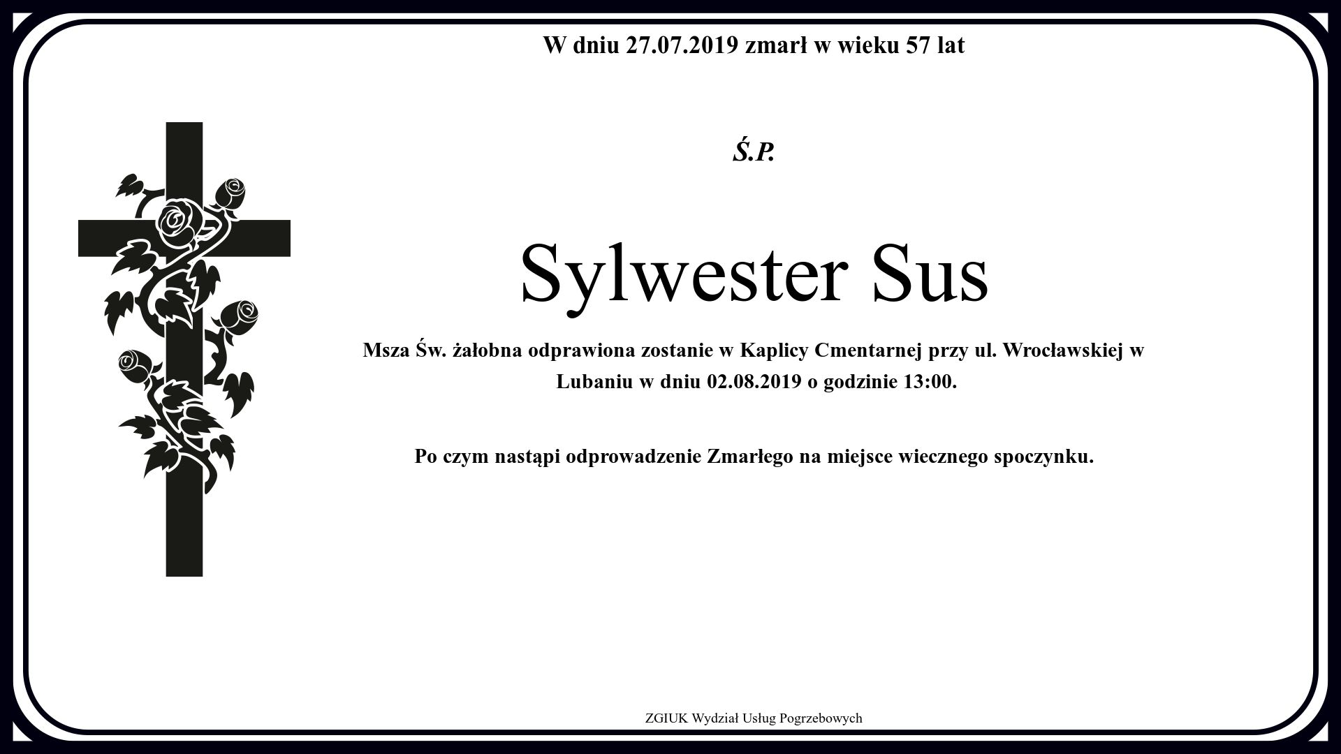 Sylwester Sus
